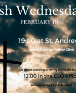 Ash Wednesday joint services