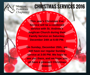 MPC Christmas services 2016