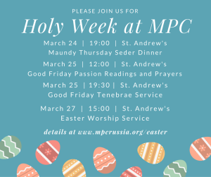 MPC Holy Week schedule
